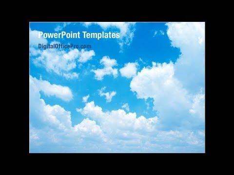 Cloud Powerpoint Template Backgrounds Digitalofficepro 01493