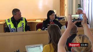 Polisens presskonferens angående Lisa Holm (13 juni 2015)