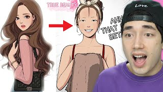 Gambar cover She's a COMPLETELY Different Person with Makeup! - Reading True Beauty