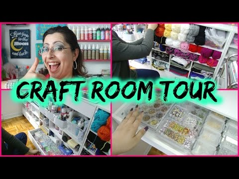 My Craft Room Tour April 2016 | Before the Move