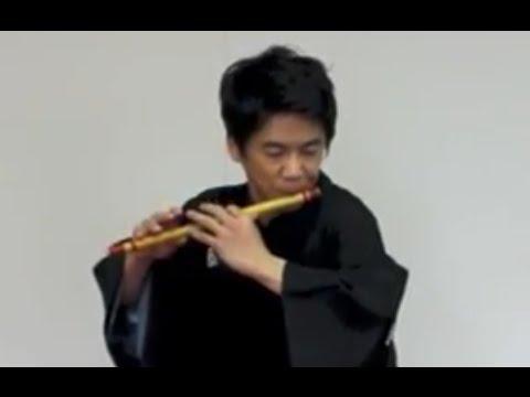 Japanese Shinobue Flute Performance by Katsura Asakichi
