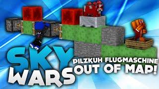 PILZKUH FLUGMASCHINE OUT OF MAP! - Minecraft Sky Wars! | DieBuddiesZocken
