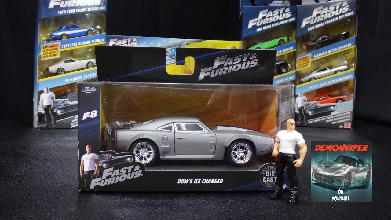 Fast /& Furious Stunt Stars Dom /& Ice Charger Vehicle