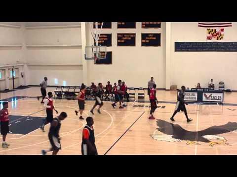 Spalding (Red) vs National Academy Foundation (Black) 3 Jul 13 1st Half Summer League