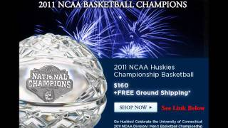 Waterford Crystal University of Connecticut Huskies NCAA 2011 Basketball Champions