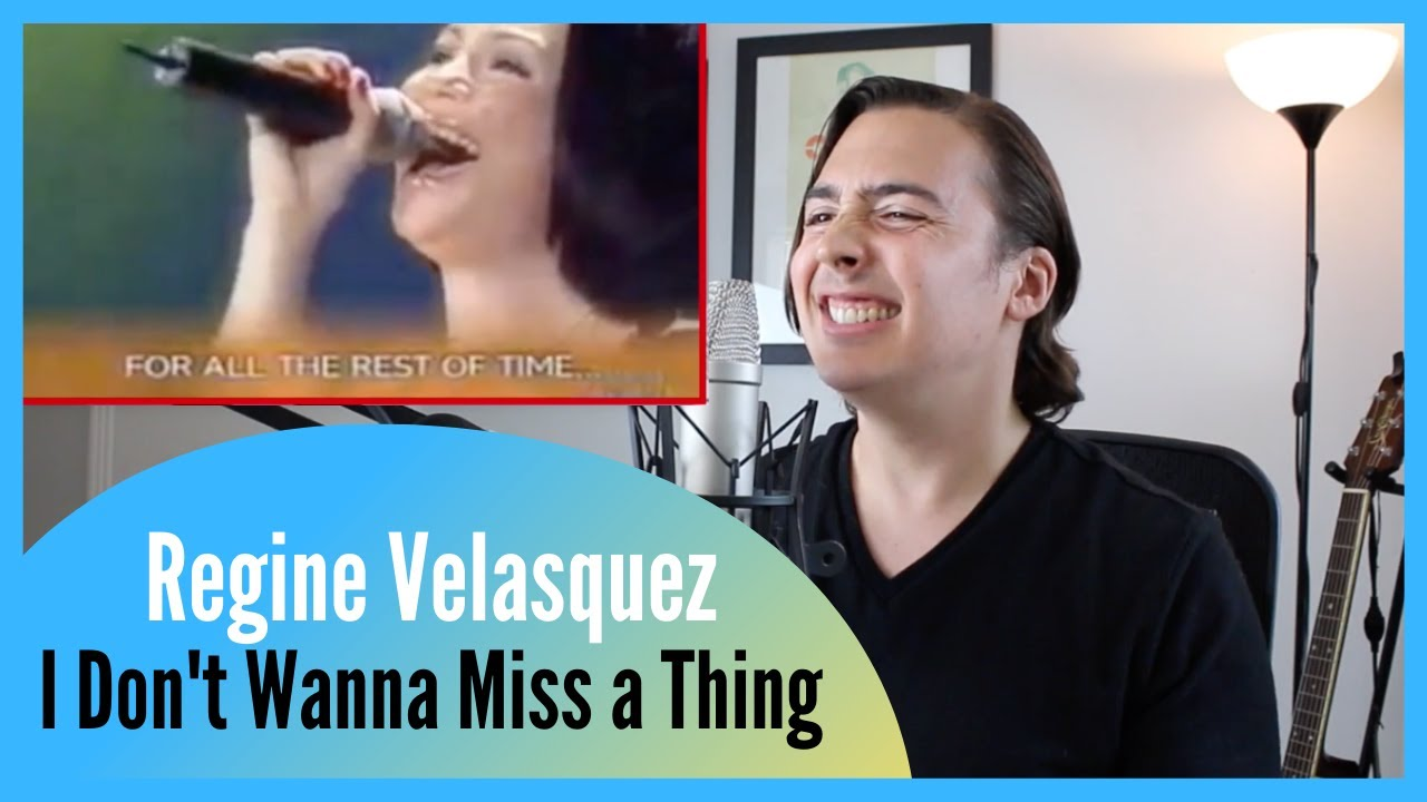 """REAL Vocal Coach Reacts to """"I Don't Wanna Miss A Thing"""" (Highest Version) - Regine Velasquez"""