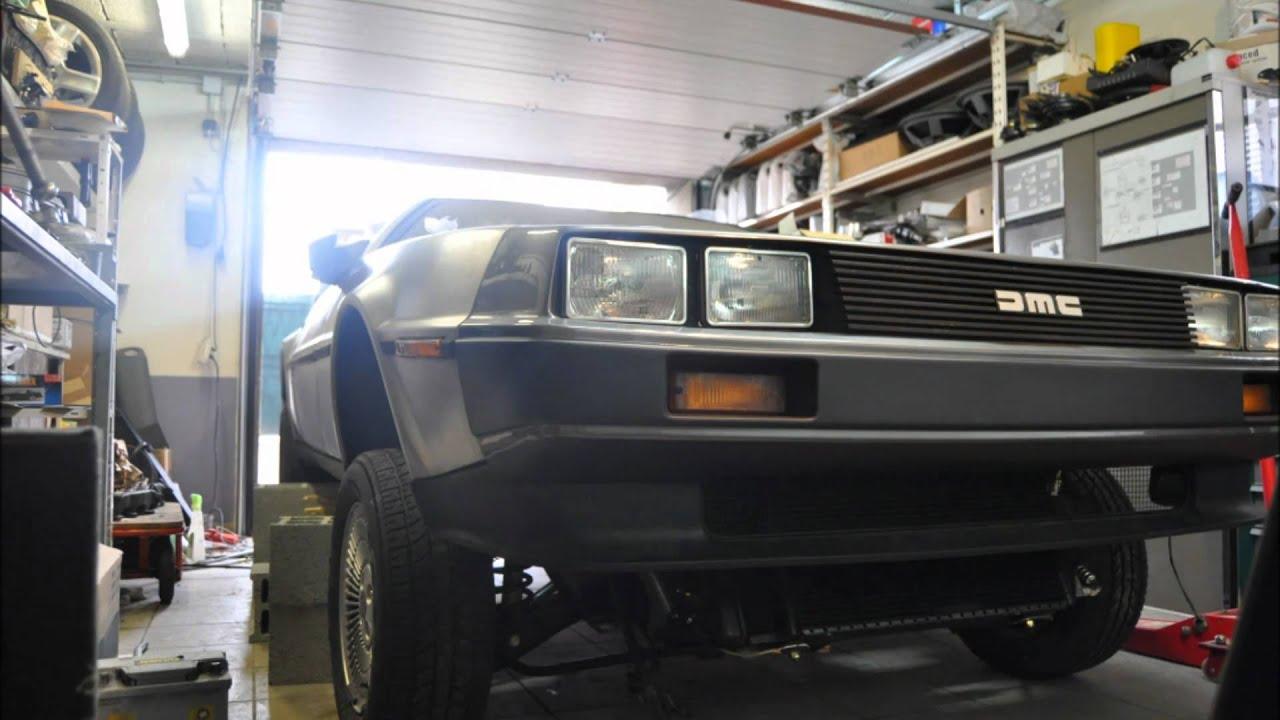 Frame back on the DeLorean VIN 4528 - YouTube