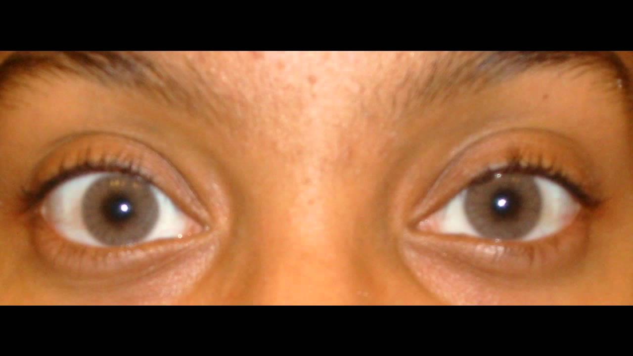 Solotica Hidrocor Ocre Lens On Very Very Dark Eyes Youtube