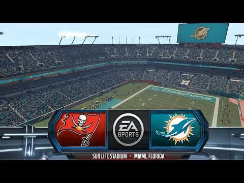 Madden NFL 16 - Tampa Bay Buccaneers vs Miami Dolphins Gameplay [ HD ]