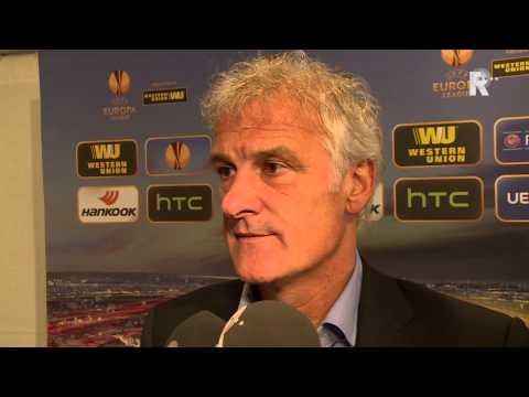 Fred Rutten na afloop van HNK Rijeka - Feyenoord
