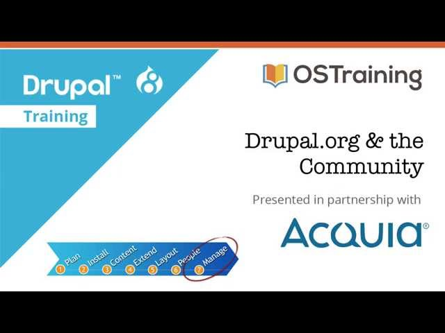 Drupal 8 Beginner, Lesson 61: Drupal.org & the Community