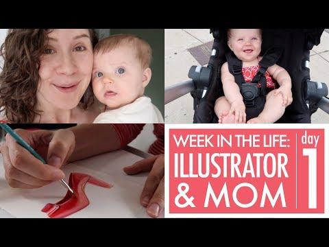 Freelance Illustrator and Mom Vlog: DAY 1
