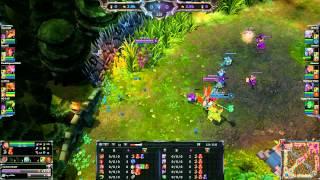 League Of Legends - Nasus vs Singed Flash Denied! Glitch lol