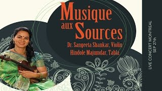 Dr. Sangeeta Shankar in Concert - MONTREAL Sep 27th