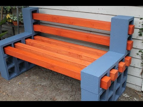 comment faire un magnifique banc de jardin avec des blocs de cendres banc de jardin youtube. Black Bedroom Furniture Sets. Home Design Ideas