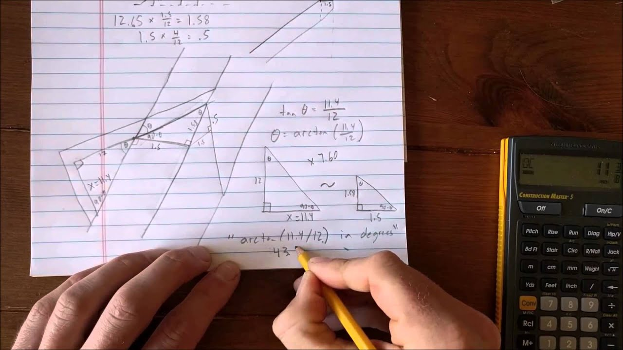 Lovely How To Derive The Framing Square Rafter Tables   Lines 5 U0026 6 (Side Cuts)    YouTube