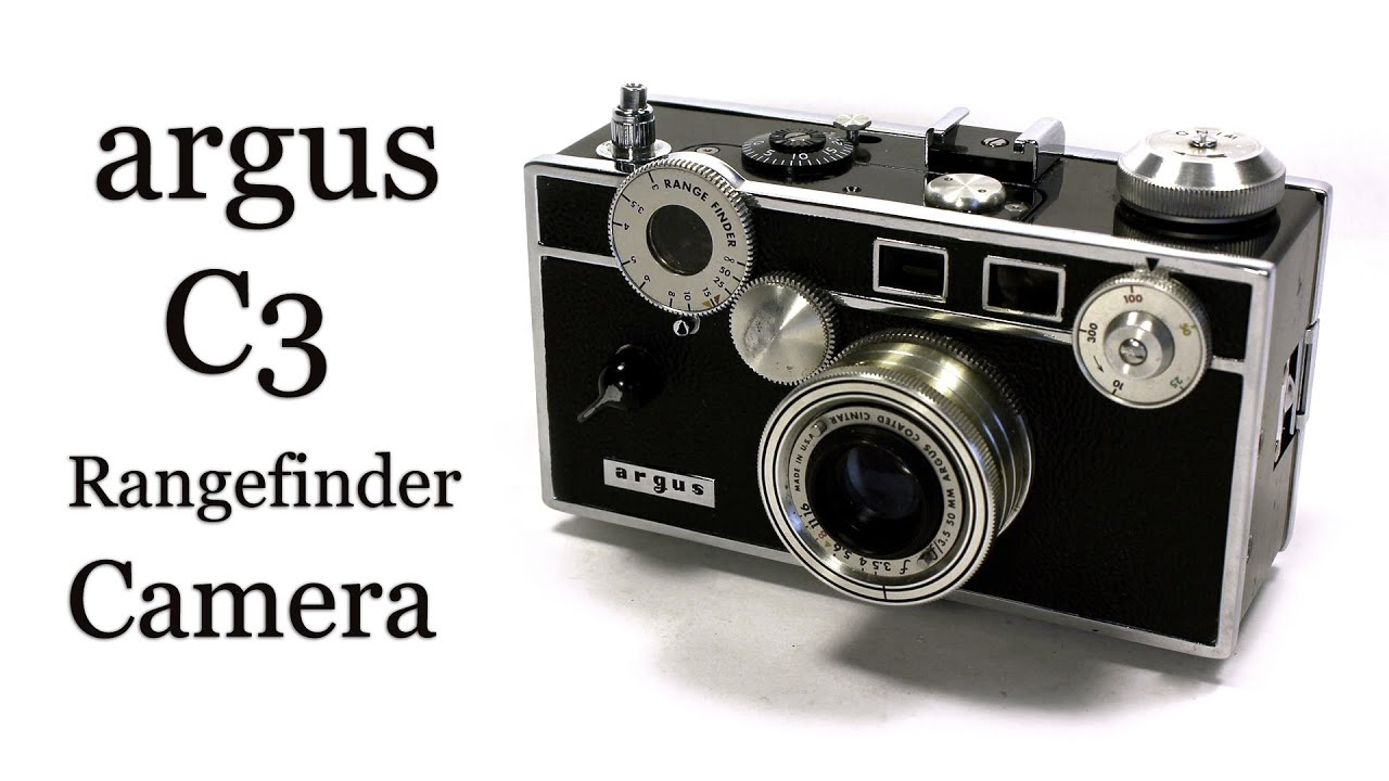 argus c3 brick rangefinder 35mm film camera youtube. Black Bedroom Furniture Sets. Home Design Ideas