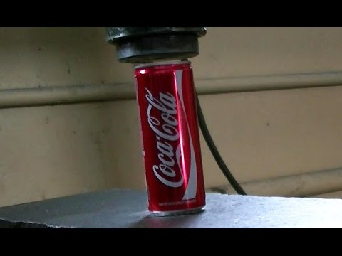 Thumbnail: Hydraulic Press vs Coca Cola