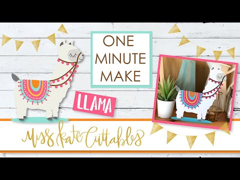 One Minute Make - Llama - How To Assemble DIY Tutorial with FREE SVG Files