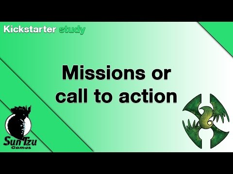 Kickstarter study - Missions or call to action