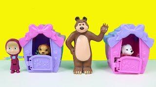 Maşa Ormanda Topladığı Bütün Hayvanları Eve Götürüyor Masha And Bear Çizgi Film Tadında