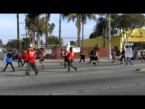 Justice For Noel Aguilar March, Long Beach to Compton, CA, 1/16/2016