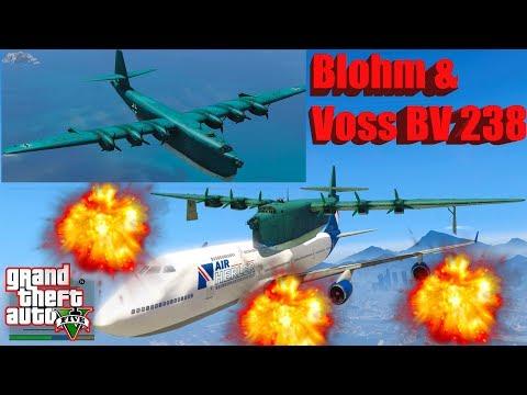 GTA V: Blohm & Voss BV 238 Bomber Plane Best Extreme Longer Crash Compilation