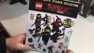 Lego Book Review. The Ninjago Movie Ultimate Sticker collection.