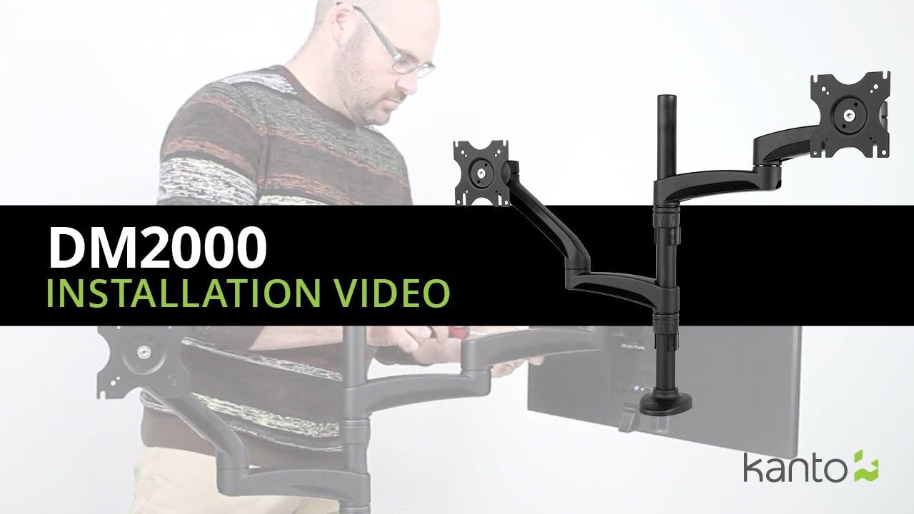 Dm2000 Desktop Monitor Mount Installation Guide Kanto Mounts