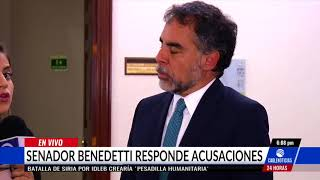 'Es ilegal que el fiscal me investigue', Benedetti sobre caso de chuzadas