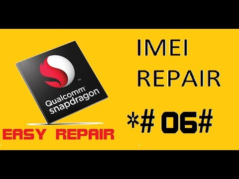 Qualcomm IMEI Repair With Tool Tested Yuphoria,Yureka and Zenfone2