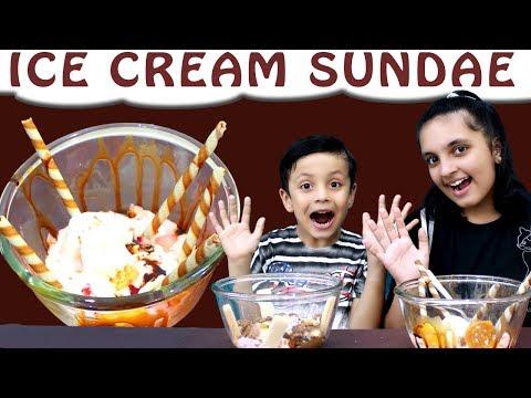 ICE CREAM SUNDAE CHALLENGE Mystery Wheel   Brother vs Sister   Aayu and Pihu Show