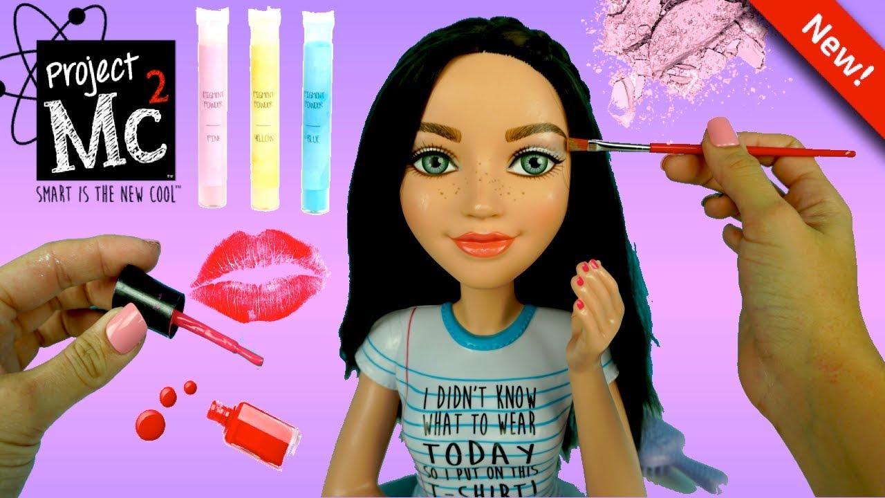 Project Mc2 Electric Styling Head Doll Diy Make Up Kit Nail Polish Titi Toys Dolls