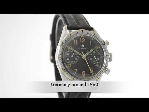 Junghans military intermediate wheel chronograph Bund calibre 88