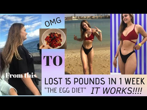 I LOST 15 POUNDS IN 7 DAYS || lose weight fast || EGG DIET, || Versatile Vicky
