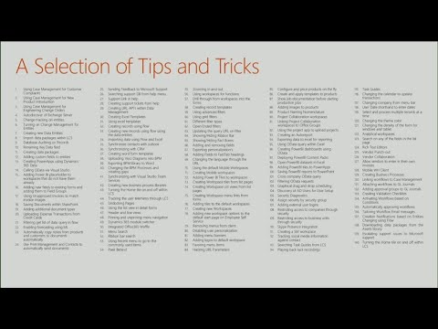 Tips and tricks for Microsoft Dynamics 365 for Finance and Operations, Enterprise edition - BRK2309