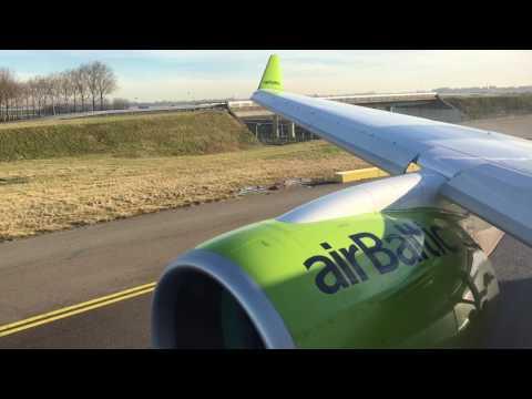 *Full revers* AirBaltic CS300 (YL-CSB) Amsterdam - Riga