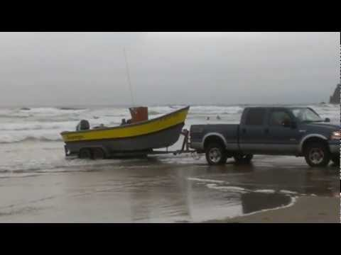 Dory launch @ cannon beach Oregon 2012