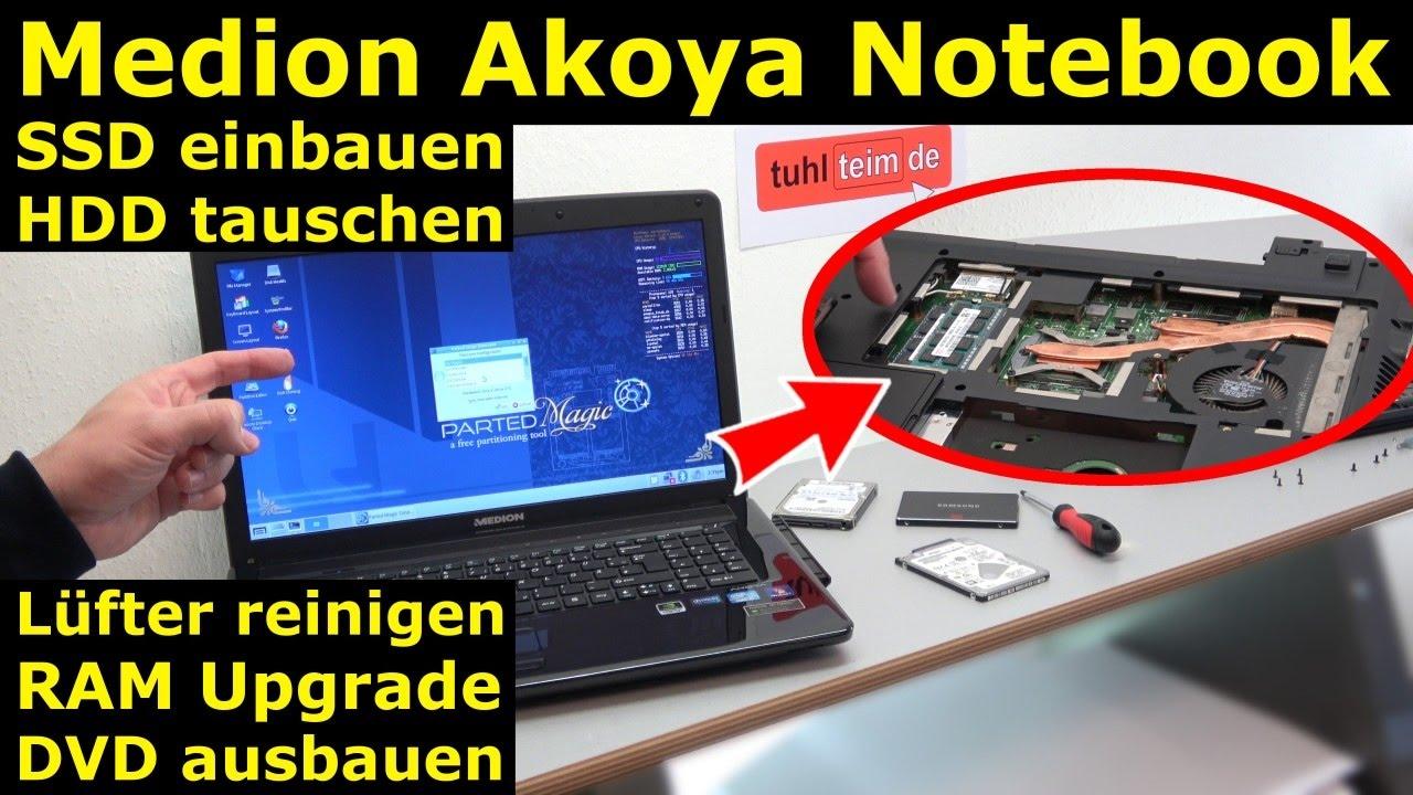 Medion Akoya Notebook Ssd Hdd Tauschen Laptop Ram Cmos Dvd Lüfter