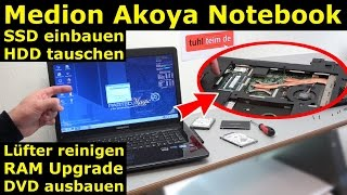 Video Medion Akoya Notebook SSD HDD tauschen - Laptop RAM CMOS DVD Lüfter reinigen - [4K] download MP3, 3GP, MP4, WEBM, AVI, FLV Juli 2018