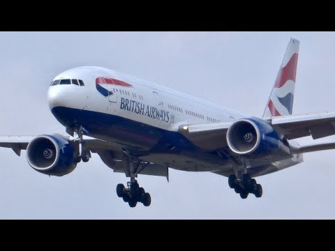 short body BA!! BRITISH AIRWAYS B772 [G-YMMJ]BA5 Dpt NRT16L Landing!!