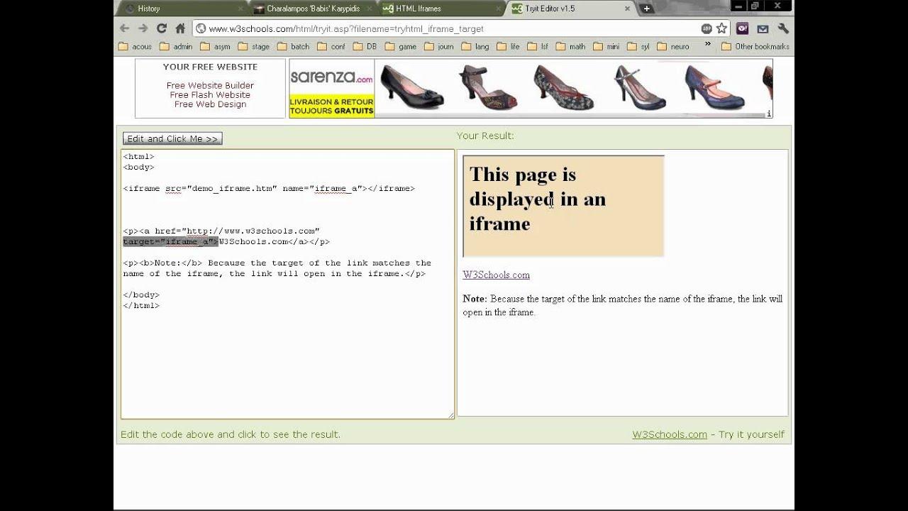 Web design (10): Iframes
