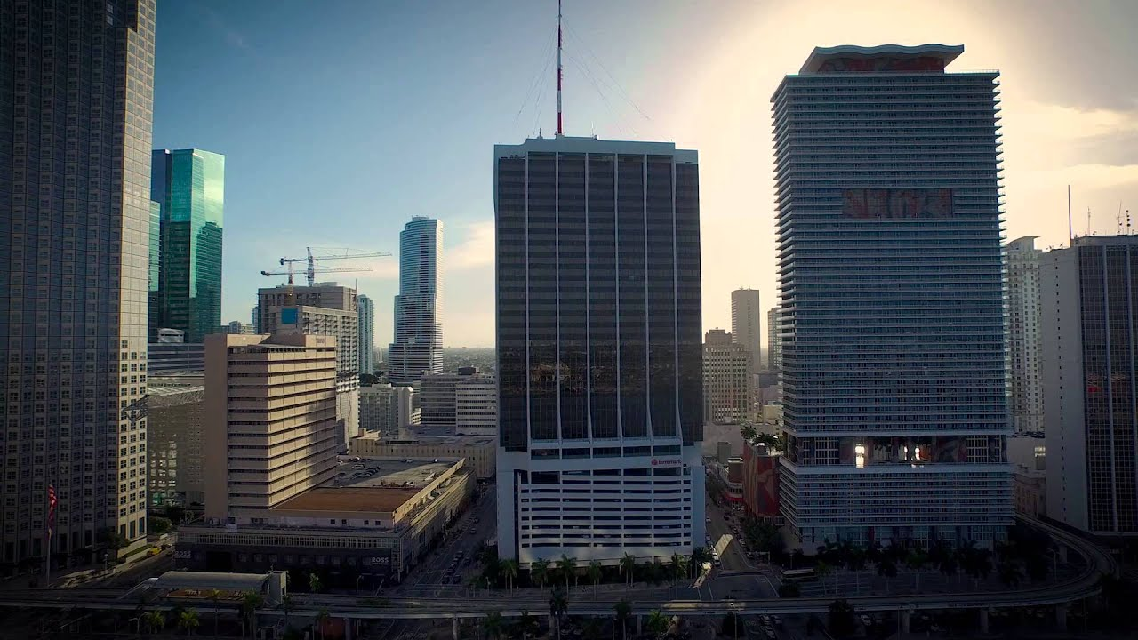 Bayfront Park Miami Florida Aerial Video Youtube