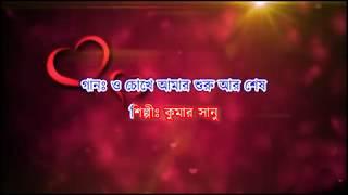 O Chokhe Amar Karaoke | Kumar Sanu | Priyotoma Mone Rekho