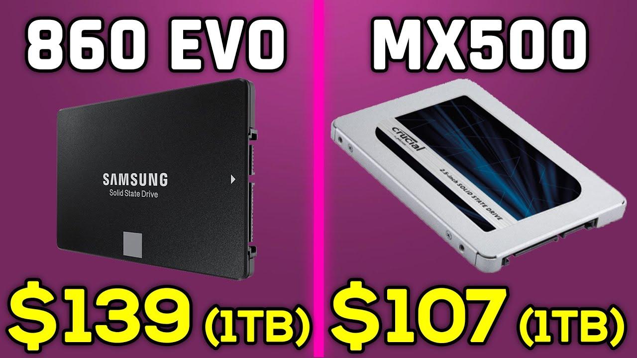 Samsung SSD 860 EVO vs Crucial MX500 - Comparison