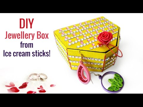 Easy DIY Craft Ideas How To Make Ice Cream Sticks Handmade Jewellery Box