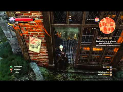 Let's Play The Witcher 3 - Part 5 (Novigrad Closed City, The Play's the thing)