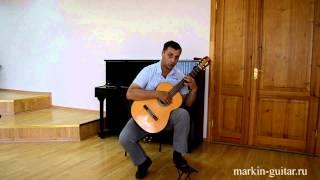 Баррэ на классической гитаре. Техника исполнения Урок № 4