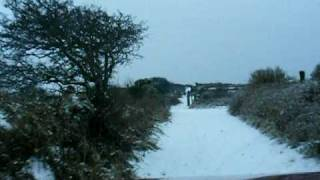 cornwall in the snow 2010 redruth 234 metres above sea level land rover discovery 300tdi part 1 of 3