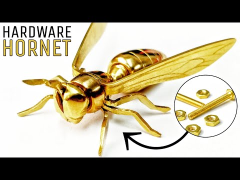 I Turn Some NUTS And BOLTS Into A WASP! (Hardware Hornet)